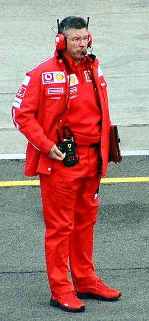 Ross Brawn - Brawn in the pit lane at the 2003 United States Grand Prix