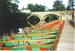 Knaresborough - The rowing boats on the River Nidd are a popular tourist attraction in the town.