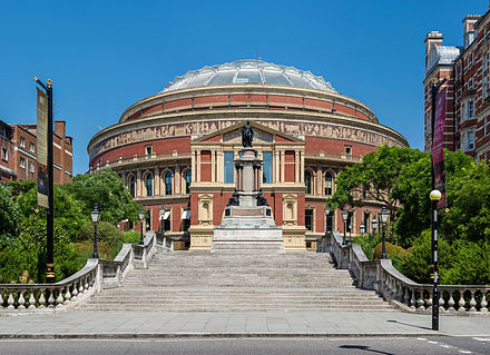 The Hall from Prince Consort Road, showing the South Steps leading up to Door 12 Royal Albert Hall Rear, London, England - Diliff.jpg