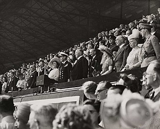 Clement Attlee - Attlee at opening ceremony of Olympic Games in London, 1948