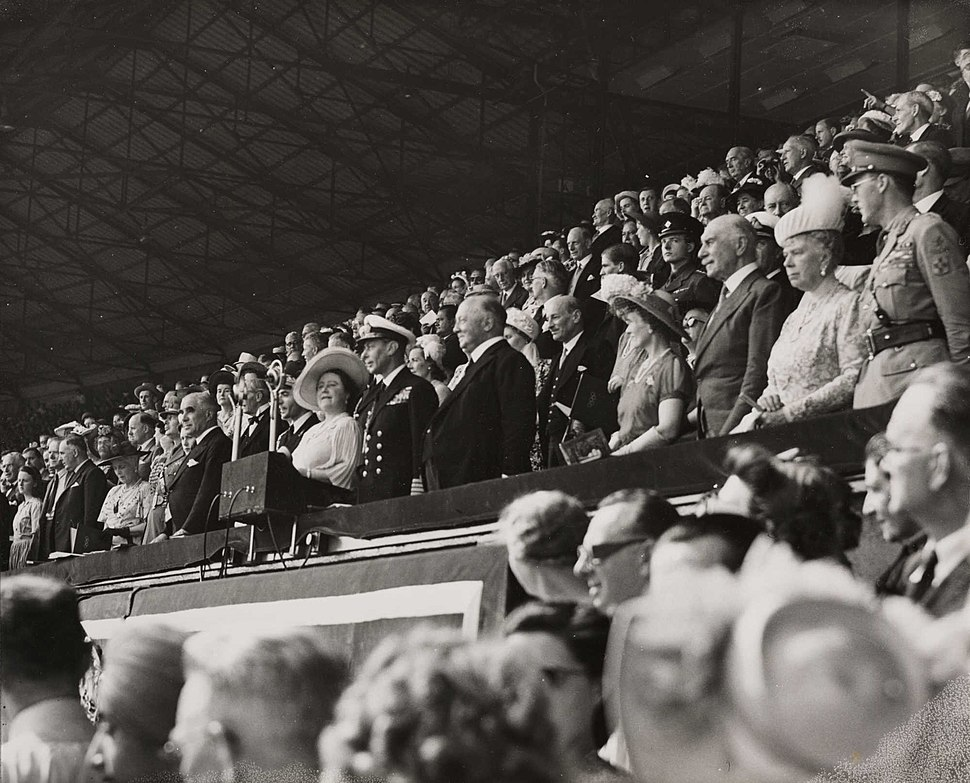 Royal party at opening ceremony of Olympic Games, London, 1948. (7649949454)