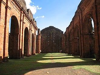 Ruins of São Miguel das Missões - Image: Ruínas da nave da Igreja de São Miguel Arcanjo