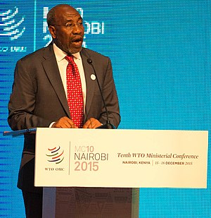 Ruhakana Rugunda - Rugunda at the World Trade Organization Ministerial Conference of 2015