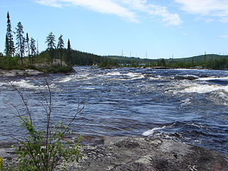 tributary of East shore of James Bay, in administrative region of Nord-du-Québec, in Quebec, in Canada