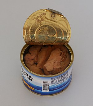 Cod as food - Canned cod liver