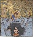 Rustam Rescues Bizhan from the Pit, Page from a Manuscript of the Shahnama (Book of Kings) LACMA M.73.5.434.jpg