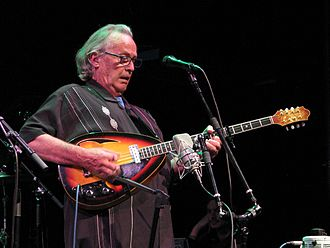 Ry Cooder - Ry Cooder playing the electric bouzouki while performing with Ricky Skaggs and Sharon White, McGlohon Theater, Charlotte, NC, August 19, 2015