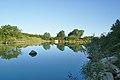 Rybník jižně nad obcí, Kuželov, okres Hodonín.jpg