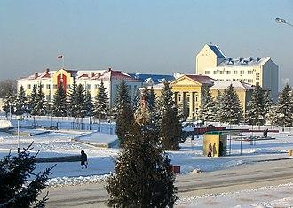 Rechytsa - Rechytsa town centre, Kastrychnitskaya (October) Square