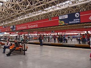 Corinthians-Itaquera (São Paulo Metro) metro station in Sao Paulo, Brazil