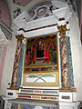 S.miniato, san domenico, int., cappella sammniati, domenico di michelino, madonna e 4 santi.JPG