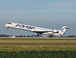 S5-AAU Adria Airways Canadair CL-600-2D24 Regional Jet takeoff from Schiphol (AMS - EHAM), The Netherlands pic1.JPG