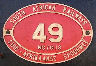 South African Class NG G13 2-6-2+2-6-2 - Image: SAR Class NG G13 49 (2 6 2+2 6 2) ID