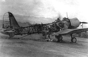 Vought SB2U Vindicator - SB2U destroyed at Pearl Harbor