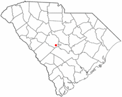 Location of Swansea, South Carolina