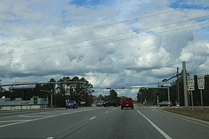 Ebro, Florida - Looking northerly at the intersection of State Routes 20 and 79 in Ebro