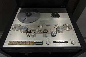 Audio forensics - Image: STUDER A80 Master 2 Track Recorder, Mastering Version