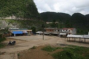 Qabiao people - A village in Đồng Văn District, Vietnam.