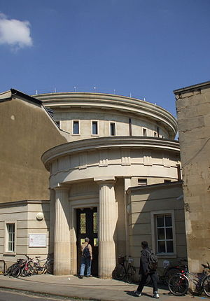 Sackler Library - The library entrance on St John Street, Oxford