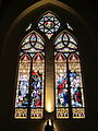 Sacred Heart St. Francis de Sales Church (Bennington, Vermont), stained glass, the Resurrection and the Ascension.jpg