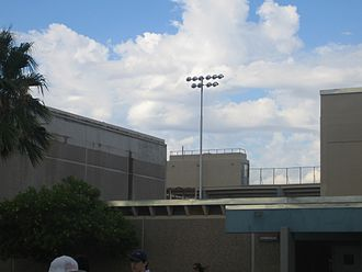 Saguaro High School - Looking up at the back of the stadium, 2006, before construction and remodeling