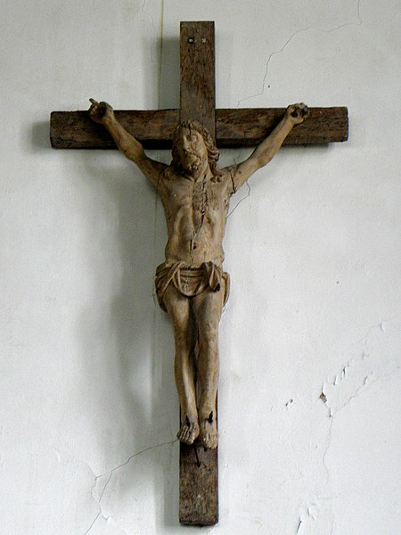 Chapelle des Haies en Saint-Berthevin-la-Tannière (53). Crucifix.