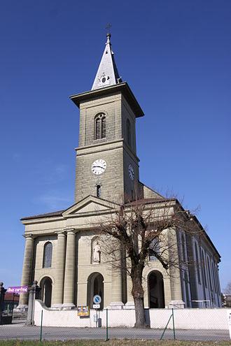 Belfaux - Image: Saint Etienne Church Mar 2011