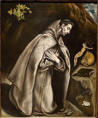 Meadows Museum - Image: Saint Francis Kneeling in Meditation, by El Greco, Spanish, c. 1605 1610, oil on canvas Meadows Museum Southern Methodist University DSC05278