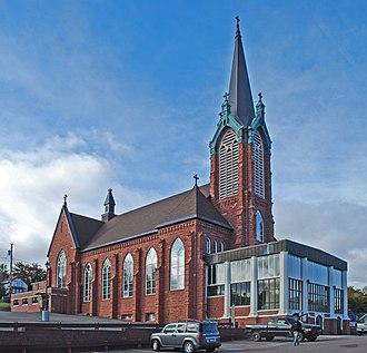 Jacobsville Sandstone - Saint Ignatius Loyola Church in Houghton was built with Jacobsville Sandstone.