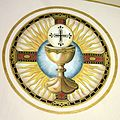 Saint Remy Catholic Church (Russia, Ohio) - fresco, Eucharistic chalice and host.jpg