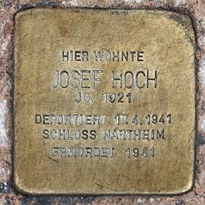 Salzburg - Elisabeth-Vorstadt - Elisabethstraße 28 - 2017 03 10 - Stolperstein Josef Hoch.jpg