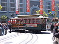 San Francisco cable car no. 9 being turned.JPG