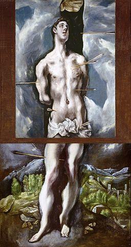 San Sebastián, de El Greco, completo (Museo del Prado)