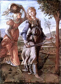 Le retour de Judith, reprise du thème biblique et hébraïque de Judith et Holopherne.Le peintre avait une grande prédilection pour les portraits, en particulier féminins, qu'ils soient de son époque ou tirés de la mythologie gréco-romaine.