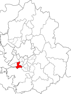 Map of Gyeonggi-do highlighting Sangnok-gu.