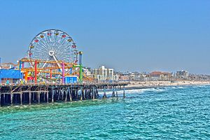 Santa Monica State Beach - The Santa Monica Ferris Wheel.