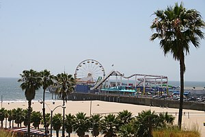 The Santa Monica Pier, California, Usa