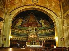 Mosaicos en la basilíca de San Cosme y San Damián