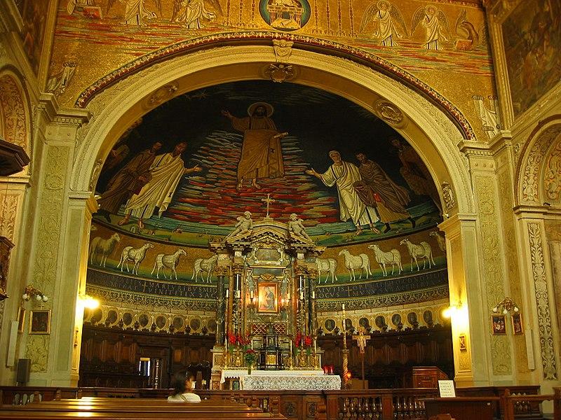 File:Santi Cosma e Damiano - abside e altare.jpg