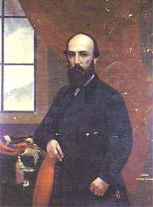 Santos Gutiérrez - 1872 oil painting by Ramón Torres Méndez