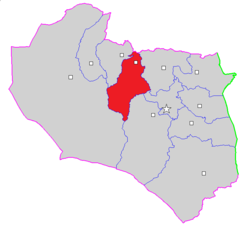 Map of Sarayan County in South Khorasan province