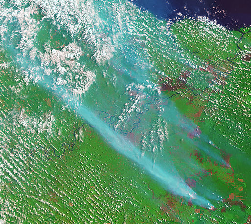 Satellite image of 2015 Southeast Asian haze - 20150905