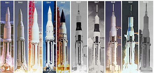 Saturn I rocket profiles SA-1 through SA-10