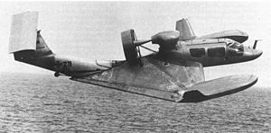 Ground effect vehicle - The Rhein-Flugzeugbau X-114 in flight.