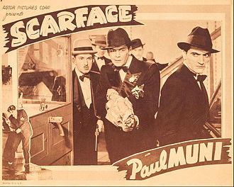 Scarface (1932 film) - Promotional card for the film