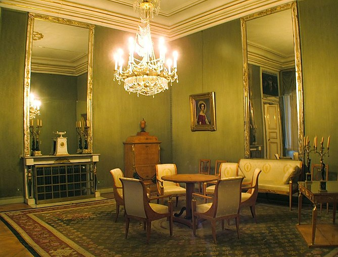 English: An interior room at Schloss Nymphenbu...