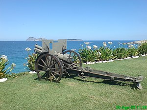 Canon de 75 M(montagne) modele 1919 Schneider - A Brazilian Model 1919 gun on display at the Fort Copacabana Museum.