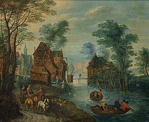 A village channel