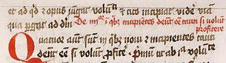 Abbreviation - Example of Latin text with abbreviations