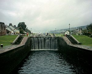 Fort Augustus - Locks on the Caledonian Canal in Fort Augustus